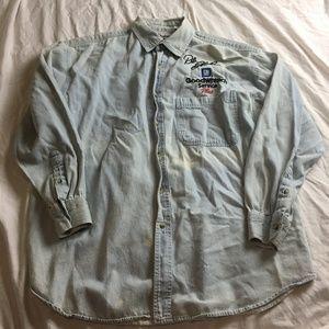 Dale Earnhardt Denim Long Sleeve Shirt Size XL